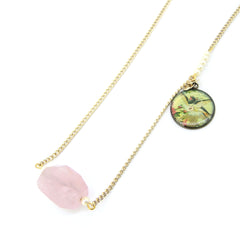Chainless Brain's Rose Quartz Necklace