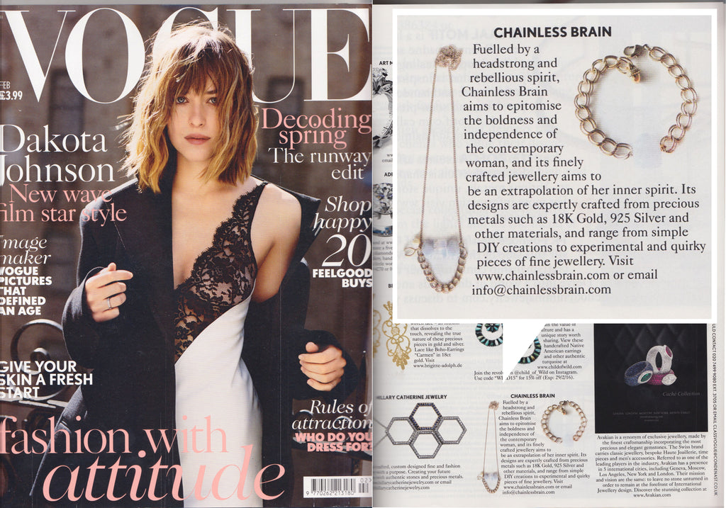 Chainless Brain features on Vogue UK Feb'16