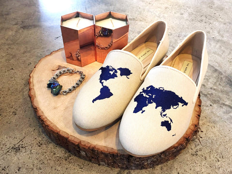 Shoes from The World At Your Feet, Candles from Scene Shang and Bracelet from Chainless Brain