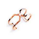 Chainless Brain - X Bar Cuff (Rose Gold)