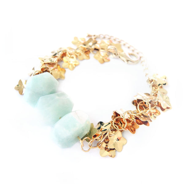 Amazonite Gold Bracelet - Chainless Brain
