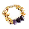 Amethyst Gold Bracelet - Chainless Brain