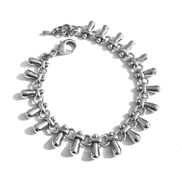 Teardrops Silver Bracelet - Chainless Brain