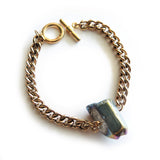Titanium Aura Quartz Antique Gold Bracelet - Chainless Brain