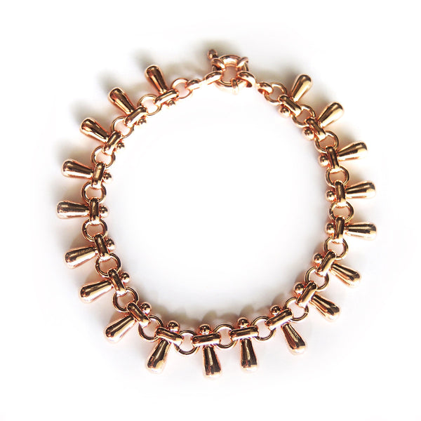 Chainless Brain - Teardrops Bracelet (Rose Gold)