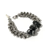 Black Rutilated Quartz Crystals Bracelet