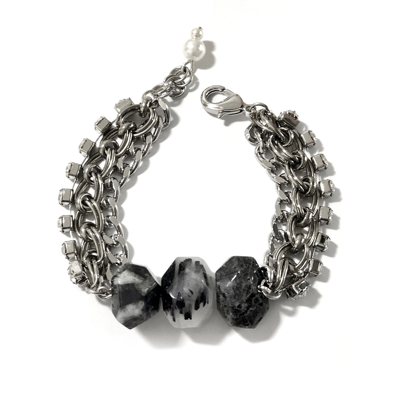 Black Rutilated Quartz Crystals Bracelet - Chainless Brain