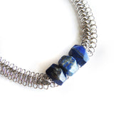 Lapis Lazuli Statement Necklace - Chainless Brain - 2