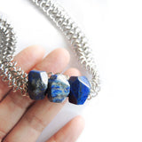 Lapis Lazuli Statement Necklace - Chainless Brain - 3