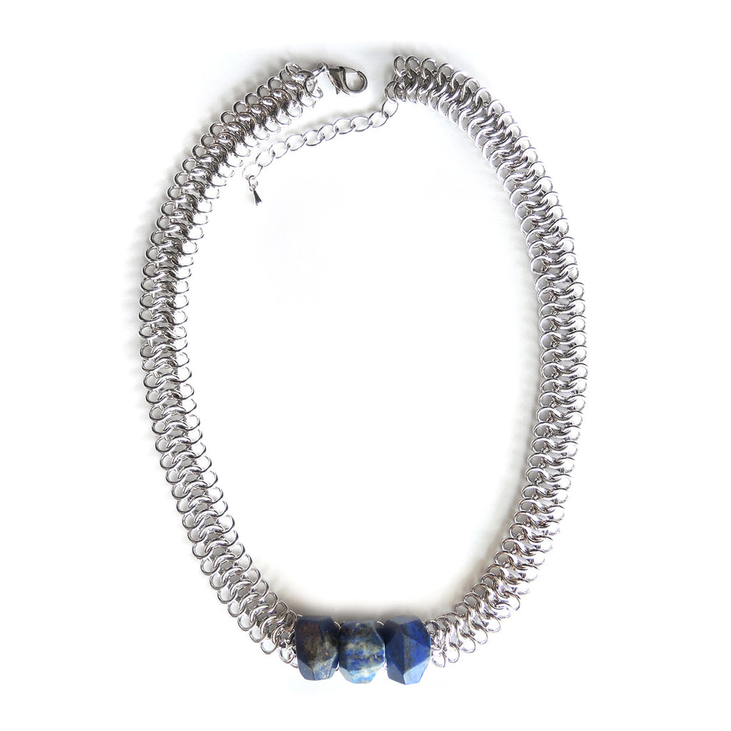 Lapis Lazuli Statement Necklace - Chainless Brain - 1