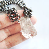 Chunky Herkimer's Diamonds Necklace - Chainless Brain - 2