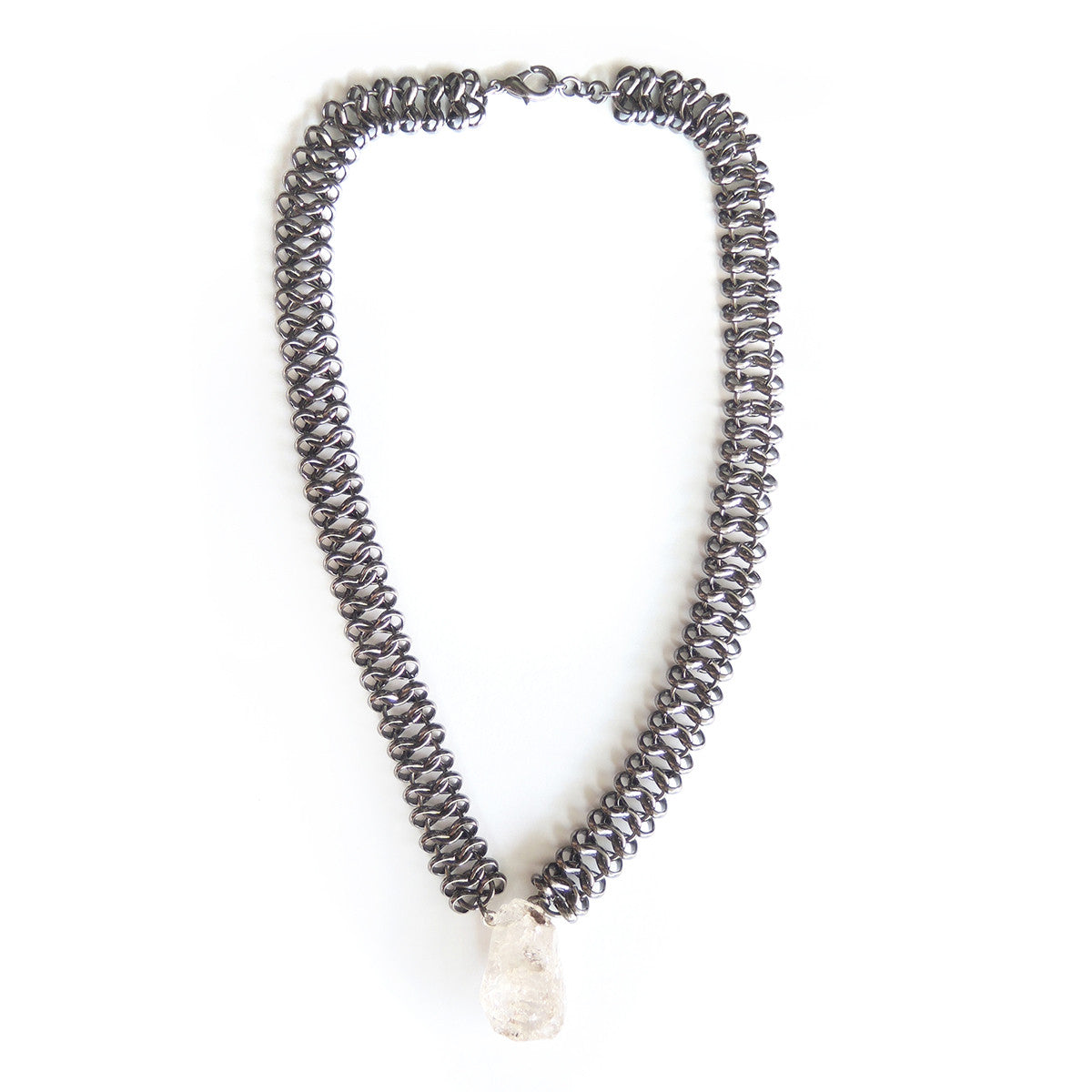 Chunky Herkimer Diamond Necklace - Chainless Brain
