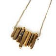 Gold Titanium Quartz Bar Necklace - Chainless Brain