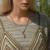 Rose Quartz Bullet Necklace (Silver) - Chainless Brain