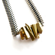 Spikey Gold Titanium Quartz Necklace - Chainless Brain