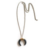Black Agate Ox Horn Necklace - Chainless Brain