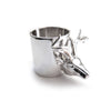 Chainless Brain - Reindeer Ring - Rhodium Plated