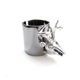 Chainless Brain - Reindeer Ring - Dark Rhodium Plated
