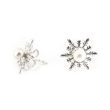 Detachable Snowflake Earrings - Chainless Brain