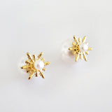 Detachable Snowflake Earrings (Pearl) - Chainless Brain - 2