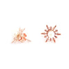Detachable Snowflake Earrings - Chainless Brain - 4