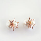 Detachable Snowflake Earrings (Pearl) - Chainless Brain - 3