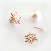 Detachable Snowflake Earrings (Pearl) - Chainless Brain - 4