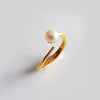 Pearl Facet Ring (Yellow Gold) - Chainless Brain - 2