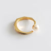 Pearl Facet Ring (Yellow Gold) - Chainless Brain - 1
