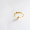 Pearl Facet Ring (Yellow Gold) - Chainless Brain - 3