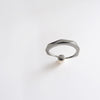 Pearl Facet Ring (Dark Silver) - Chainless Brain - 3