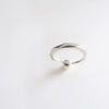 Pearl Facet Ring (Silver) - Chainless Brain