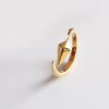 Diamond Facet Ring (Yellow Gold) - Chainless Brain - 1
