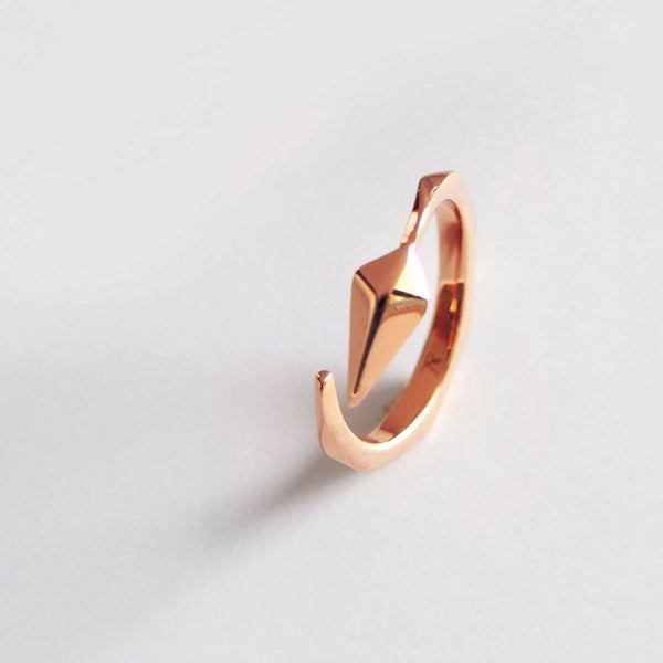 Diamond Facet Ring (Rose Gold) - Chainless Brain
