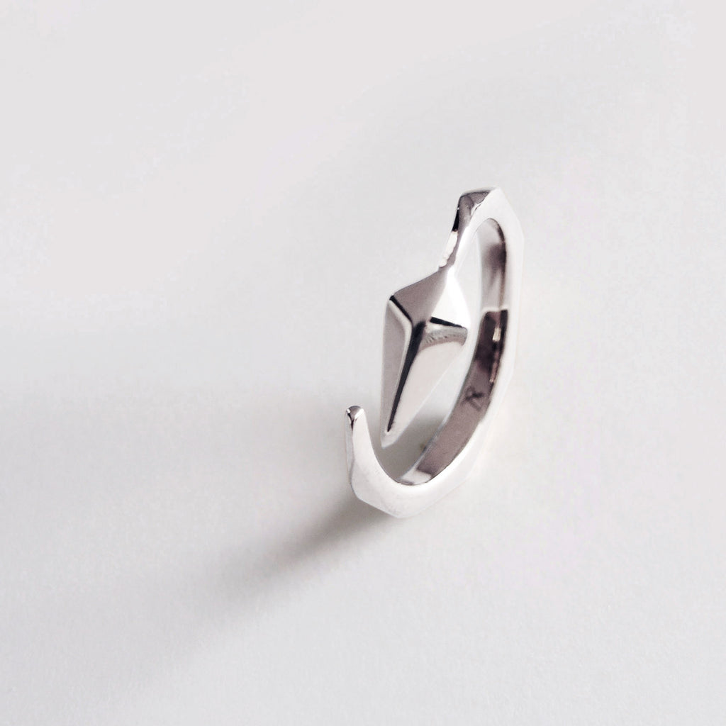Diamond Facet Ring (Silver) - Chainless Brain - 1