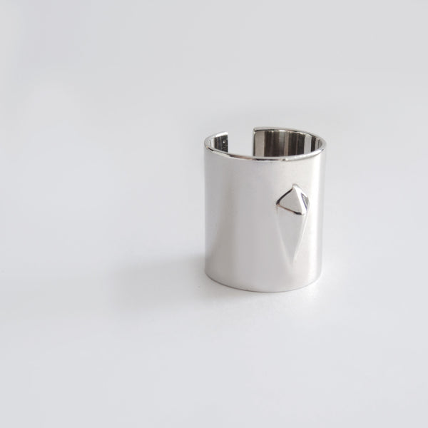 Diamond Tube Ring (Silver) - Chainless Brain
