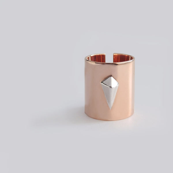 Diamond Tube Ring (Rose Gold) - Chainless Brain