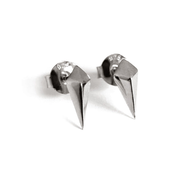 Diamond Studs (Dark Silver) - Chainless Brain - 1