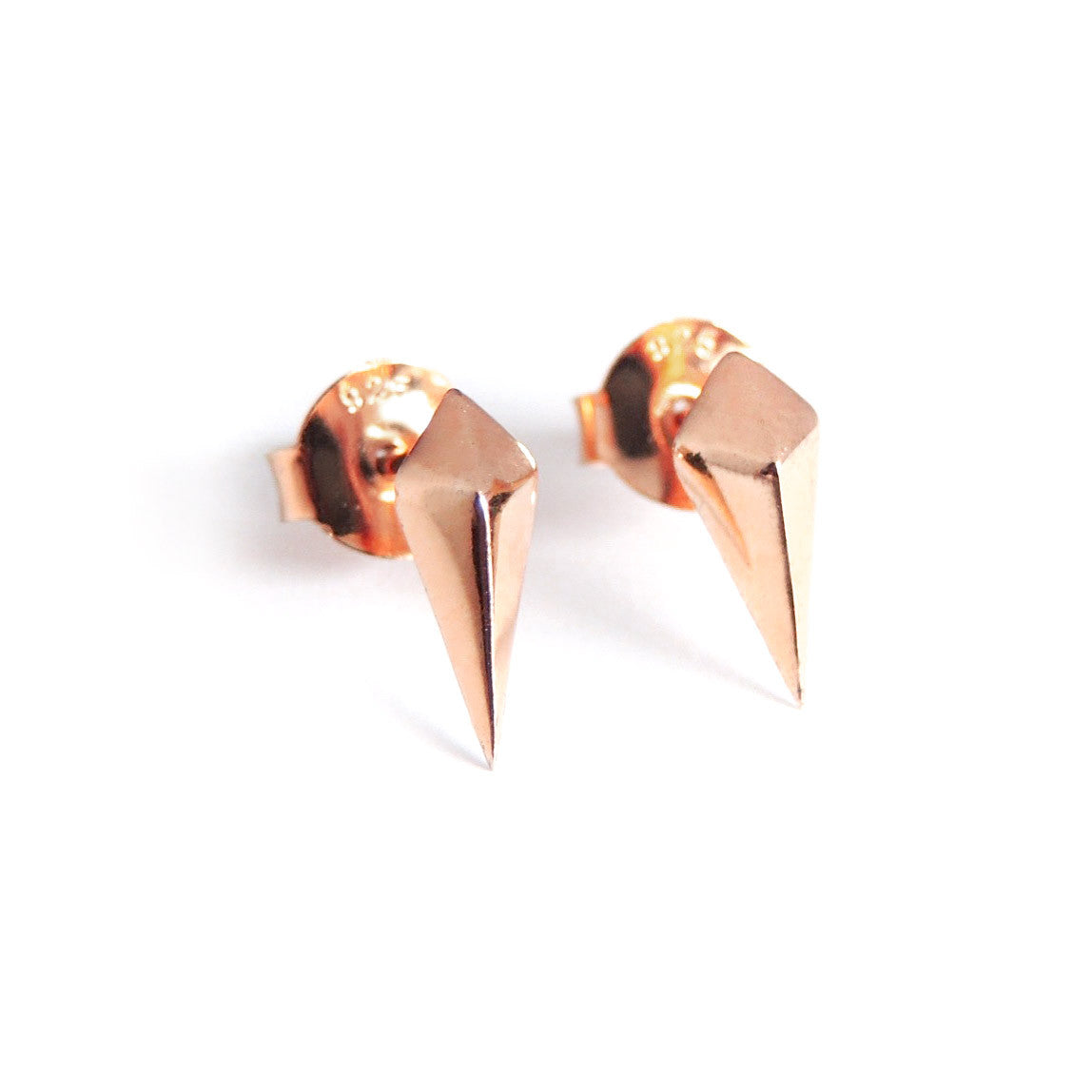 Diamond Studs (Rose Gold) - Chainless Brain