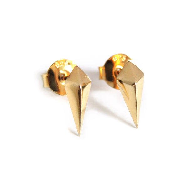 Diamond Studs (Yellow Gold) - Chainless Brain