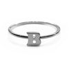 Alphabet Ring A - M (Black Silver) - Chainless Brain - 2