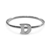 Alphabet Ring A - M (Black Silver) - Chainless Brain - 4
