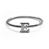 Alphabet Ring A - M (Black Silver) - Chainless Brain - 5