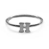 Alphabet Ring A - M (Black Silver) - Chainless Brain - 8