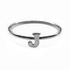 Alphabet Ring A - M (Black Silver) - Chainless Brain - 10