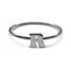 Alphabet Ring N - Z, & (Black Silver) - Chainless Brain - 6