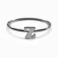 Alphabet Ring N - Z, & (Black Silver) - Chainless Brain
