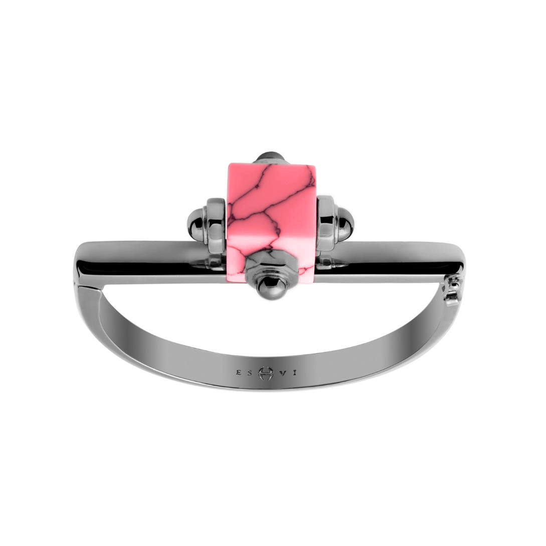 Pink Marble Cube Cuff - Chainless Brain