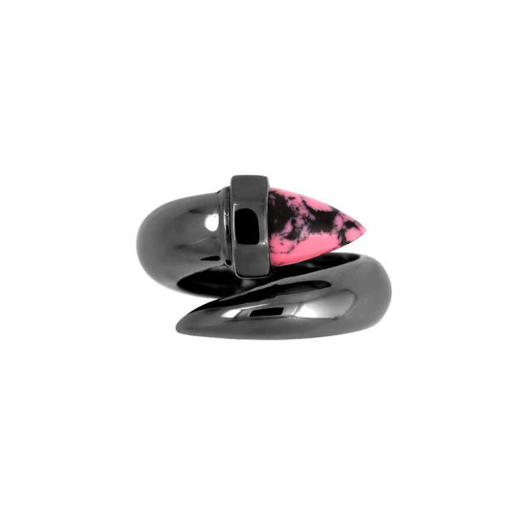 Pink Marble Bolts Ring - Chainless Brain