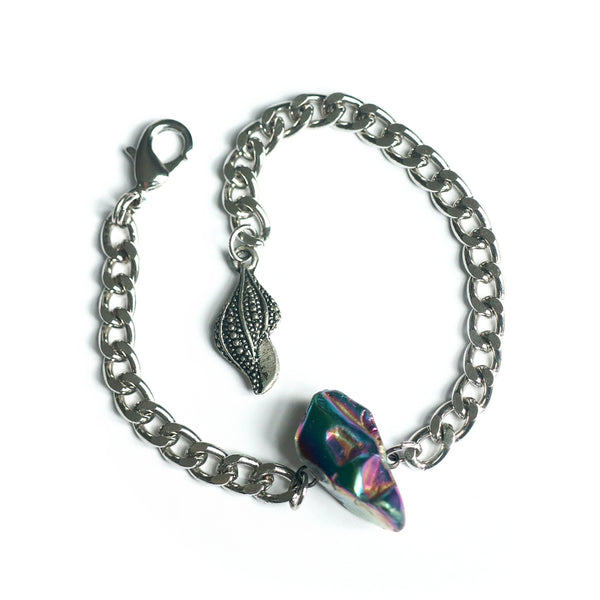 Titanium Aura Quartz Bracelet - Chainless Brain